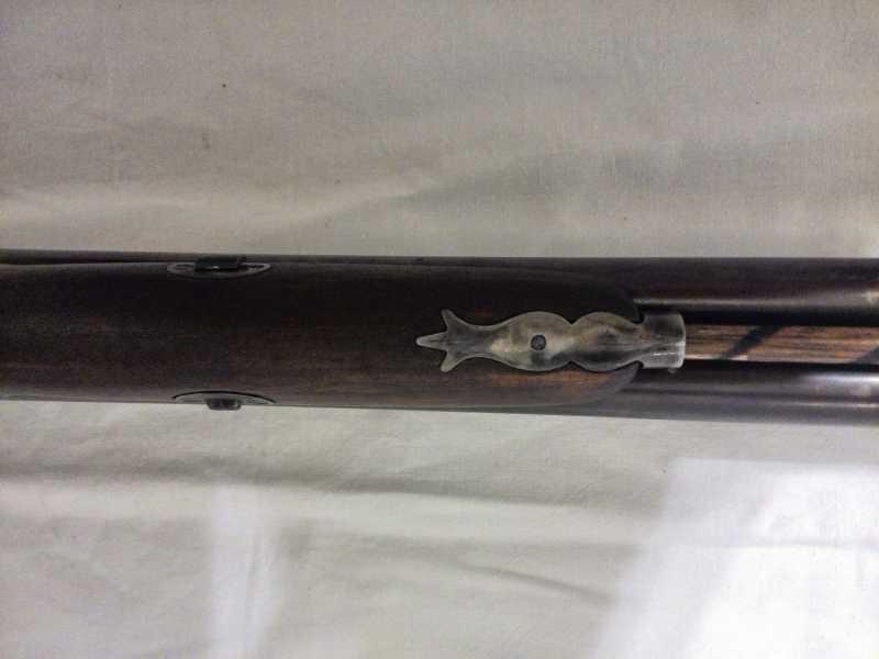 9)2-х ствольное, дульнозарядное ружье, 12-го калибра. Педерсоли, Италия.