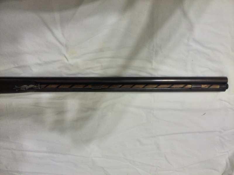 10)2-х ствольное, дульнозарядное ружье, 12-го калибра. Педерсоли, Италия.