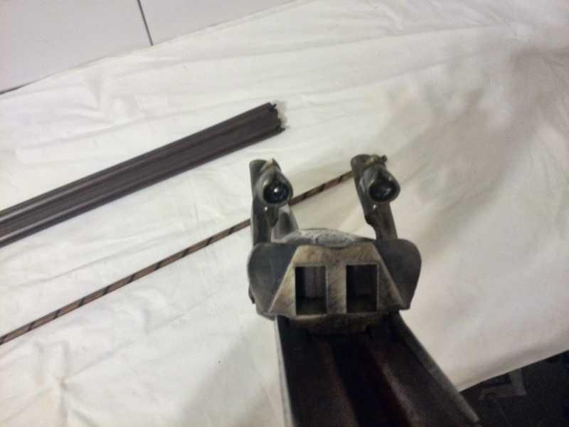 17)2-х ствольное, дульнозарядное ружье, 12-го калибра. Педерсоли, Италия.