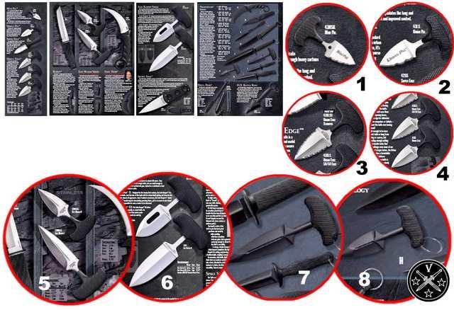 Ножи тычкового типа в каталоге американской компании Cold Steel 2015 года