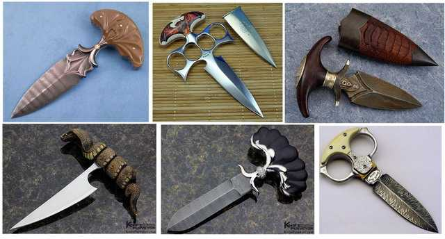 Ножи тычкового типа в авторском художественном исполнении