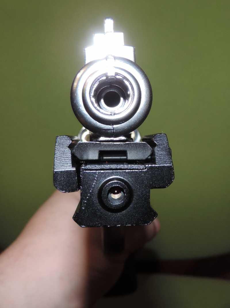 3)Обзор - Тест Gletcher SW R4 silver и Gamo P-900.
