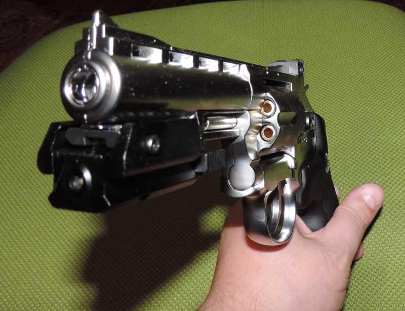 4)Обзор - Тест Gletcher SW R4 silver и Gamo P-900.