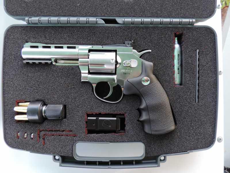 16)Обзор - Тест Gletcher SW R4 silver и Gamo P-900.