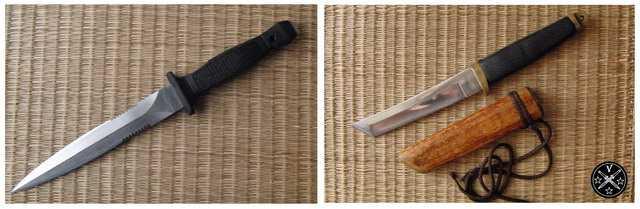 Боевые ножи с фиксированным клинком