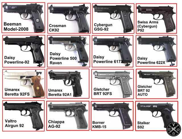 Пневматические копии Beretta 92