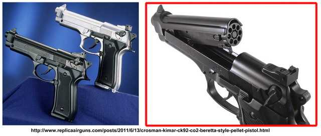 Пневматический пистолет Crosman CK92 производства Kimar