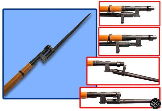 Металлический штык для пневматического карабина Gletcher M1944