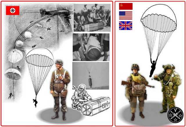 Парашютисты-десанники Втиорой Мировой войны