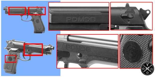 Маркировка кросмановской пулевой Беретты