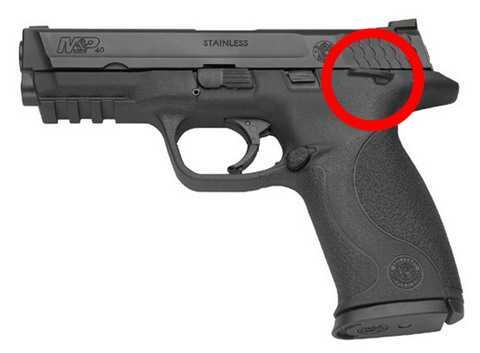 Пистолет S&W M&P с дополнительным двухсторонним флажковым предохранителем