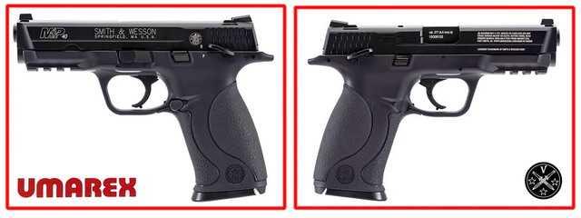 Новый пневматический пистолет Umarex SW MP с блоубэком