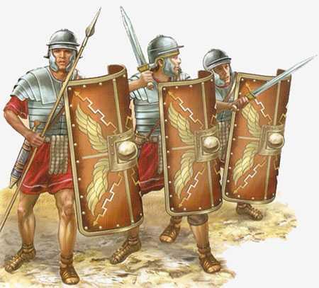 4)Гладиус - оружие легионера.
