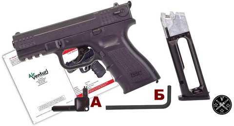 Комплектация нового пневматического пистолета Air Venturi ISSC M22 BB