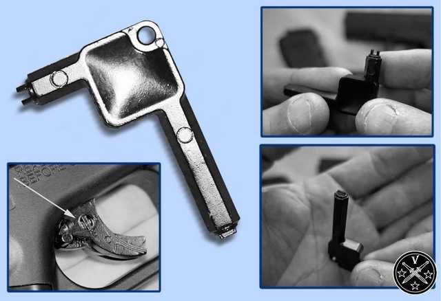 Специальный ключ для блокировки спускового крючка