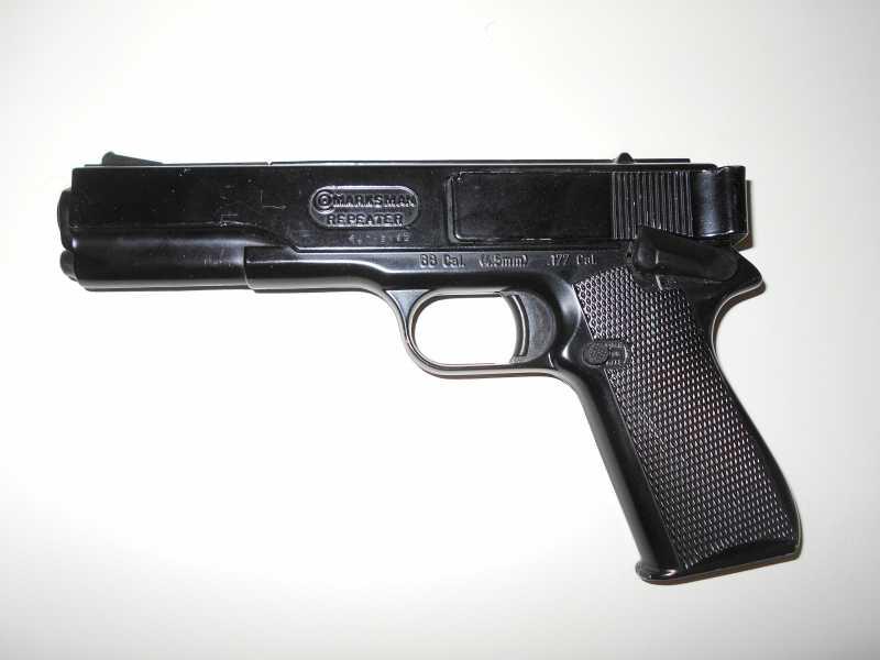 1)Пружинно-поршневой пистолет Marksman 1010