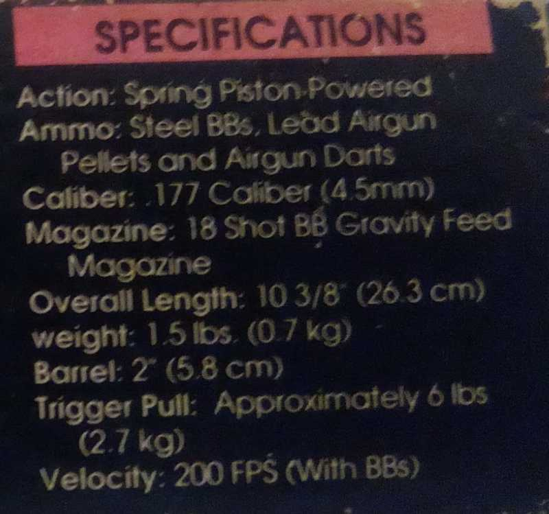 4)Пружинно-поршневой пистолет Marksman 1010