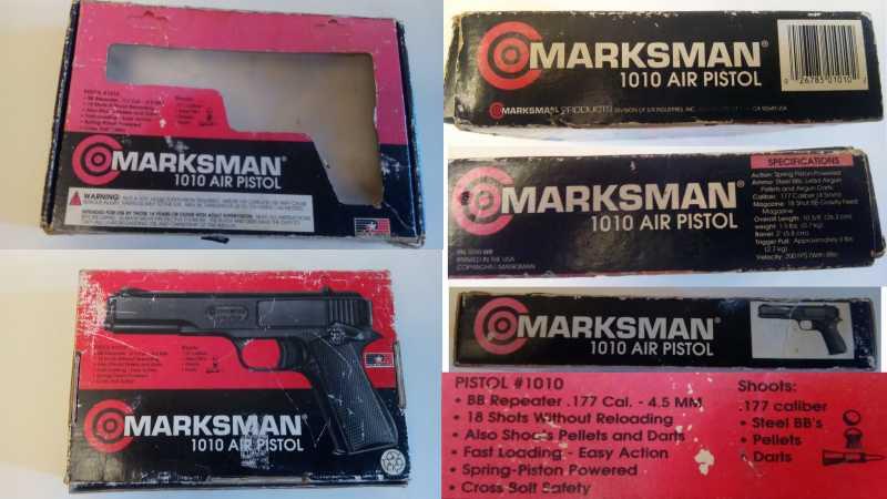 6)Пружинно-поршневой пистолет Marksman 1010