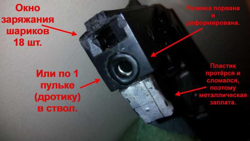 24)Пружинно-поршневой пистолет Marksman 1010