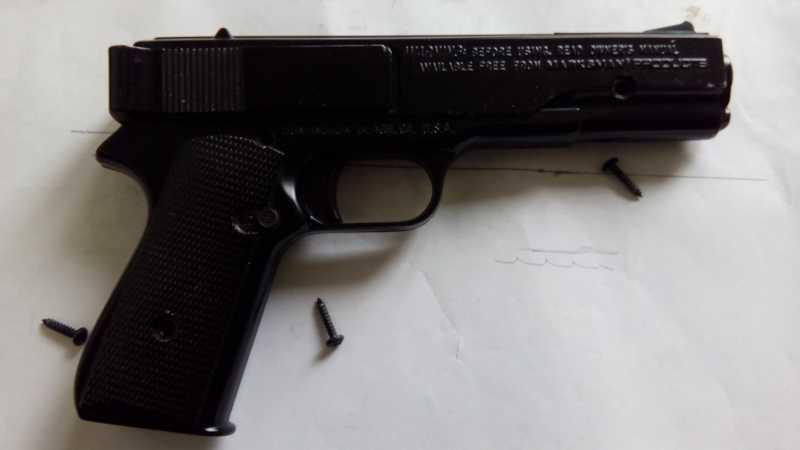 31)Пружинно-поршневой пистолет Marksman 1010