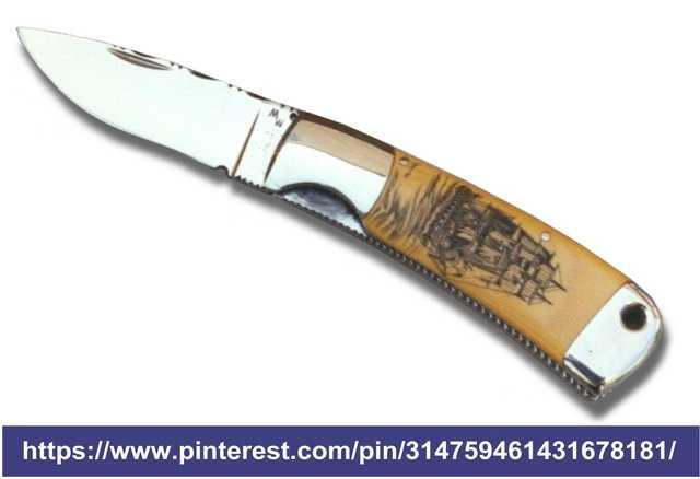Один из первых ножей с полосковым пружинным фиксатором клинка (liner lock)