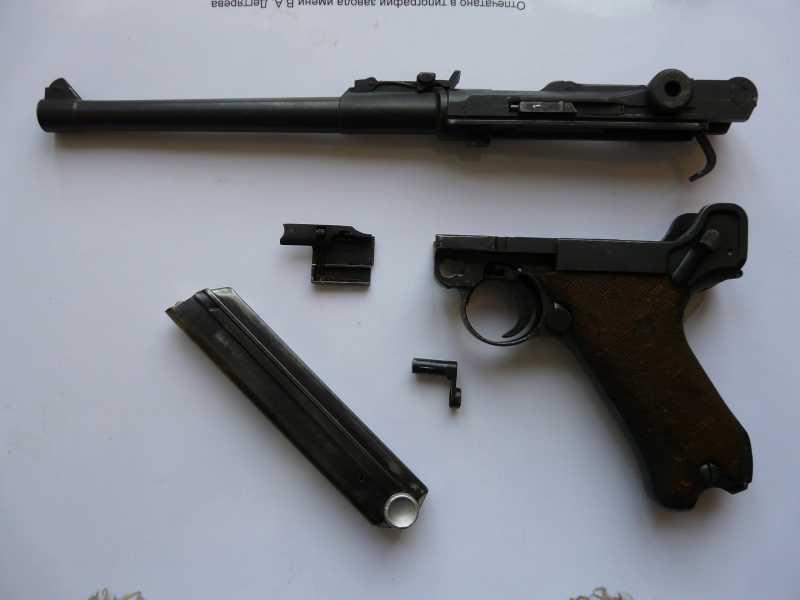 3)Огнестрельный Р08 (артиллерист)
