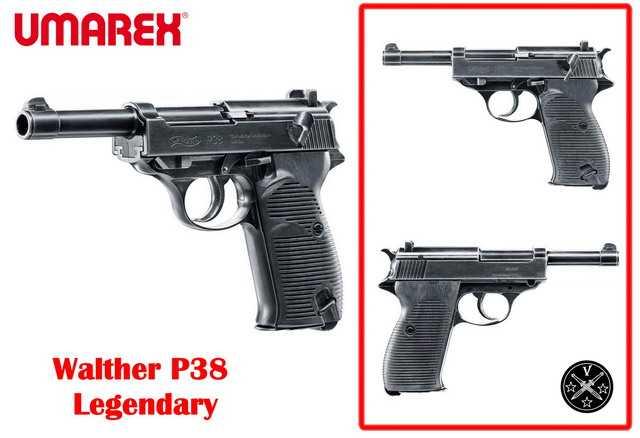 Коллекционный пневматический пистолет-легенда Walther P38 Legendary