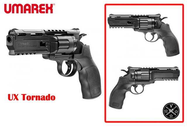Новый пневматический револьвер UX Tornado от немецкой компании Umarex