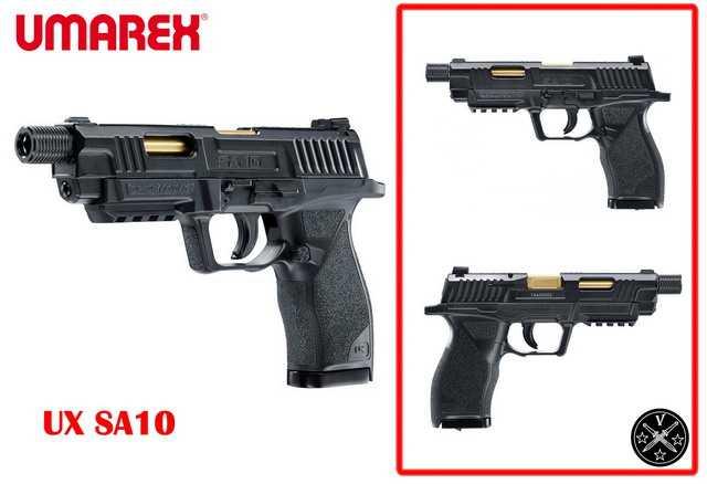 Необычная пневматическая новинка пистолет Umarex UX SA10