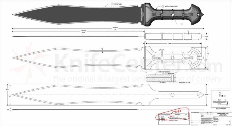 11)В полку гладиев прибыло: United Cutlery Combat Commander Gladiator - гладий в стиле модерн.