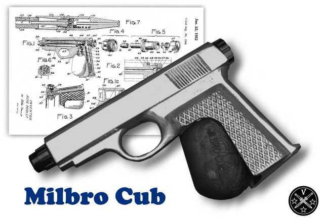 Пистолет игрушка 40-х годов Milbro Cub