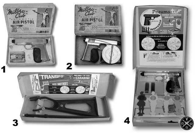 Комплекты поставки пистолета Милбро Куб