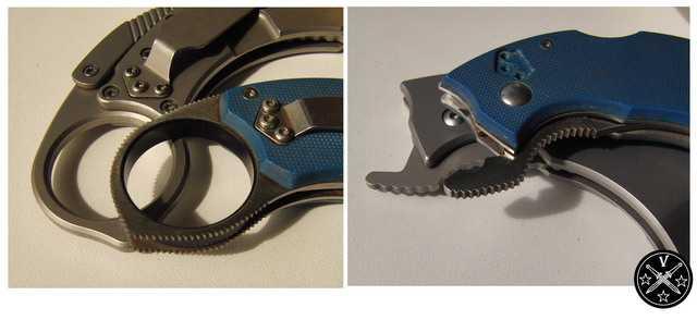 Рифление кольца и штыря клонов ножей Крудо