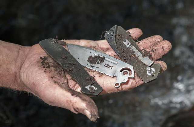 Загрязнение ножа