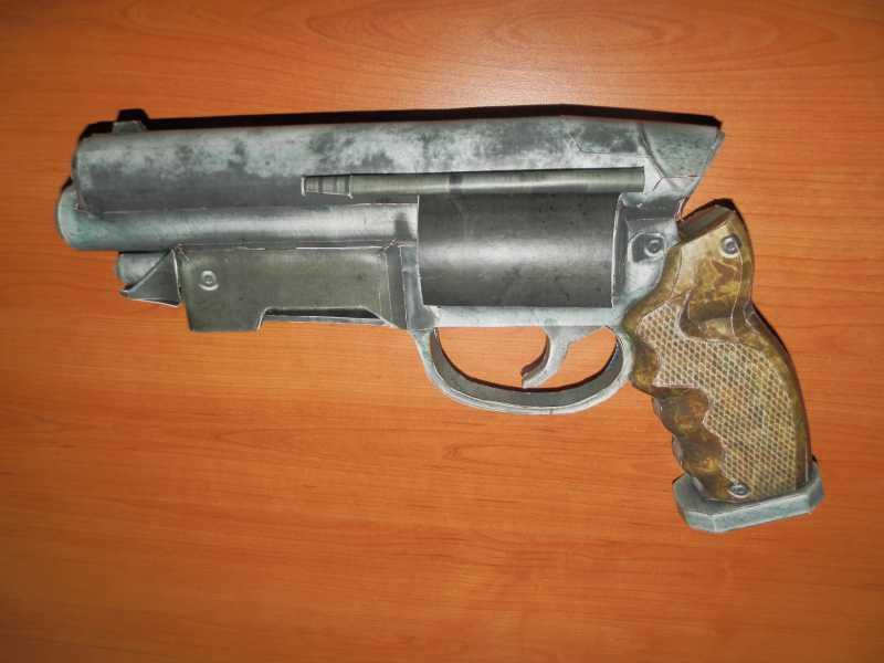 19)Бумажный пистолет