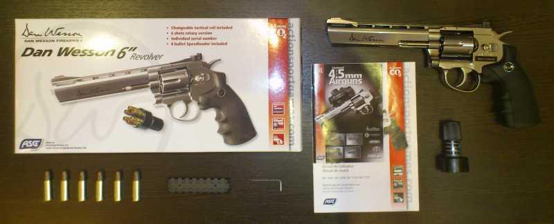 1)Обзор револьвера ASG Dan Wesson 6