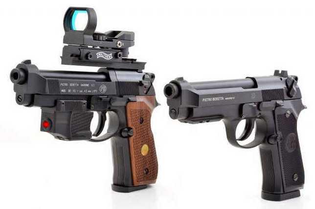 2)Сравнение пулевой и шаровой версий пневматических пистолетов Umarex 92-ой серии