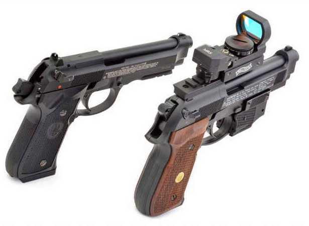 4)Сравнение пулевой и шаровой версий пневматических пистолетов Umarex 92-ой серии