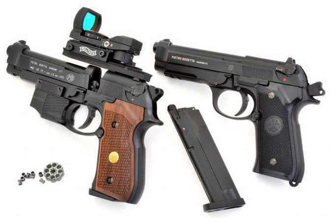 6)Сравнение пулевой и шаровой версий пневматических пистолетов Umarex 92-ой серии