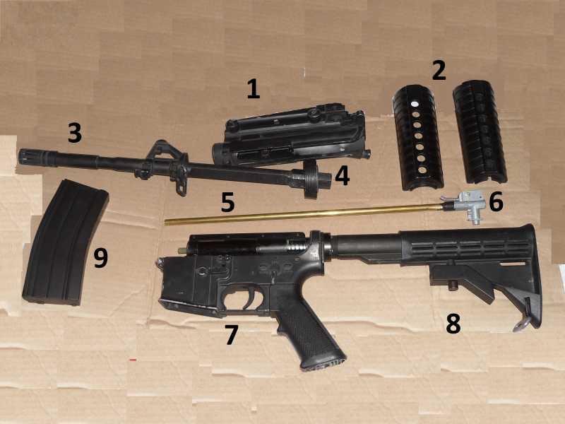3)Страйкбольная винтовка M4A1 D-Boys