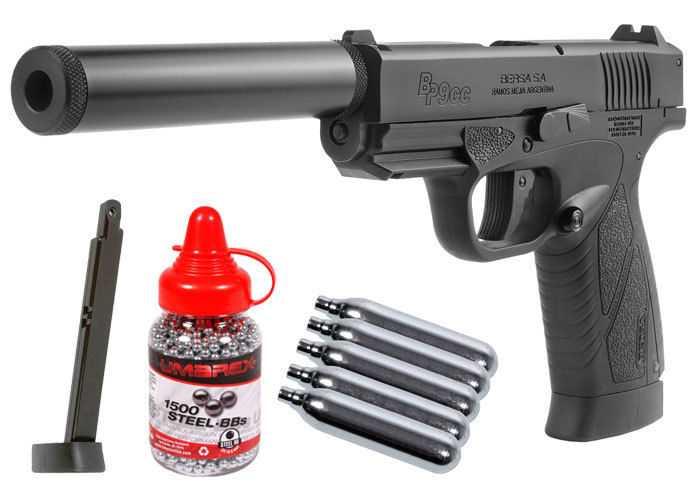 1)Пневматический пистолет ASG BERSA BP 9CC