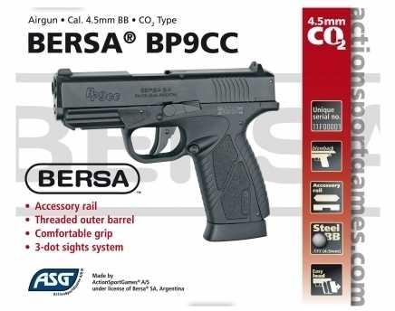 2)Пневматический пистолет ASG BERSA BP 9CC