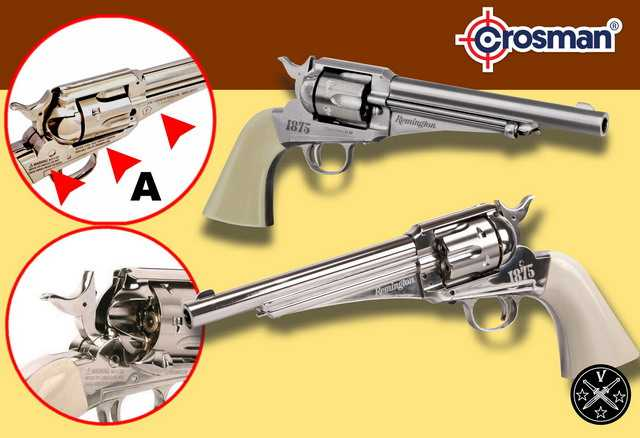 19)Третий пневмат из истории Дикого Запада – Remington 1875