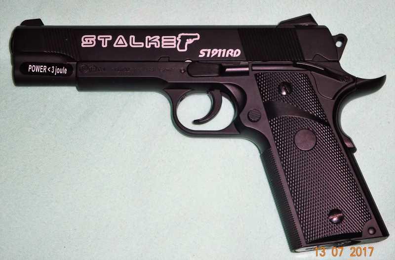 1)Пистолет STALKER S1911RD