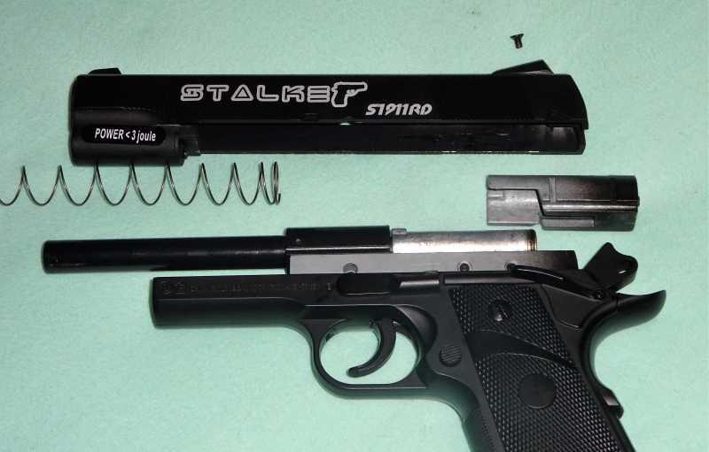 7)Пистолет STALKER S1911RD