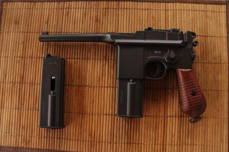 1)Маузер М 712 от Gletcher: первые впечатления от стрельбы и своеобразие модели.