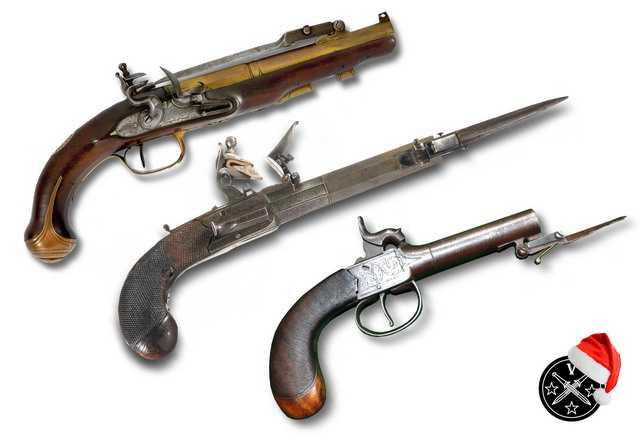 3)Пистолетные штык-ножи