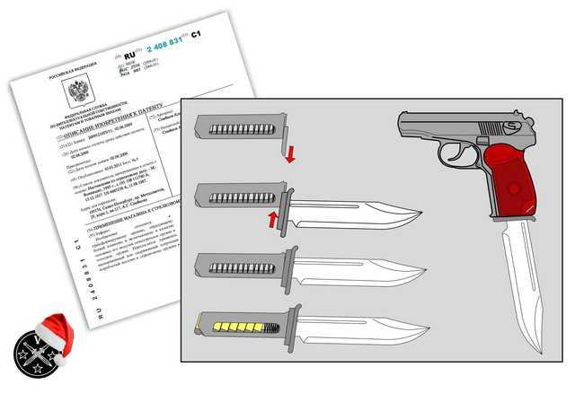 16)Пистолетные штык-ножи
