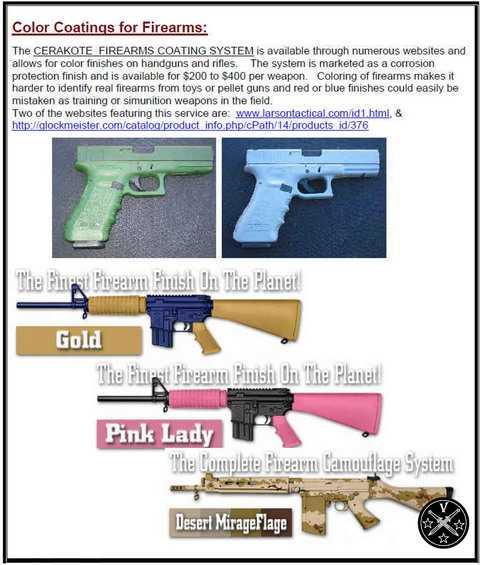 6)Раскрашенное оружие