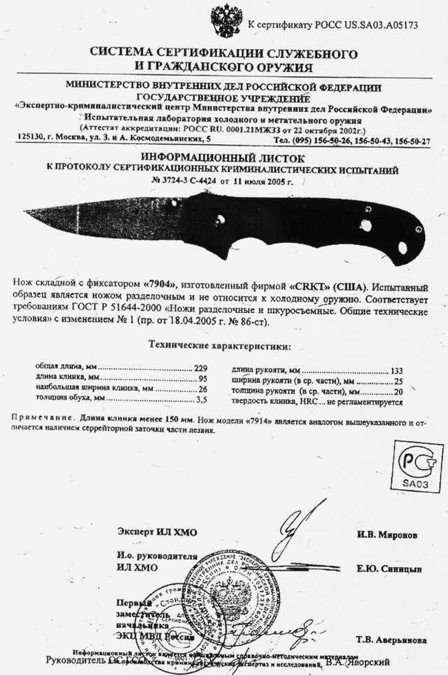 7)Реинкарнация ножа Джима Хаммонда «Странник» CRKT